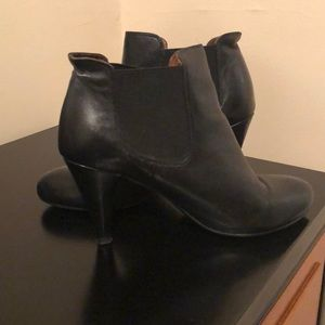 Jeffrey Campbell Black Leather Booties